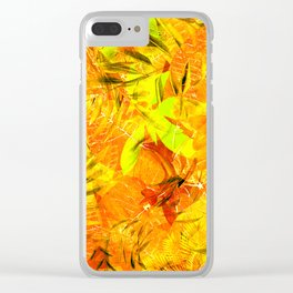 Autumn Foliage Clear iPhone Case