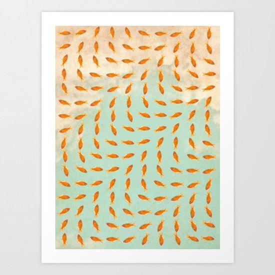 Goldfish Pattern Art Print