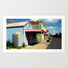Colourful abandoned shop in rural Town ~ Australia Art Print