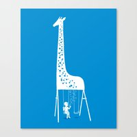 ilovedoodle Canvas Prints featuring My playground by I Love Doodle