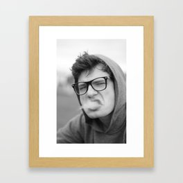 Smoking Framed Art Print
