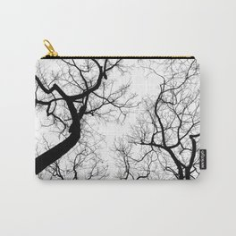 Black and white tree top silhouettes... Carry-All Pouch