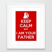 keep calm Framed Art Prints featuring Keep Calm by ubertwigg
