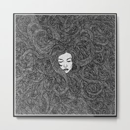 Girl's Hair Metal Print