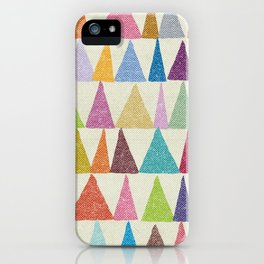 Analogous Shapes In Bloom. iPhone Case