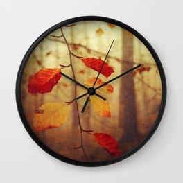 Colourful Autumn Leaves Wall Clock