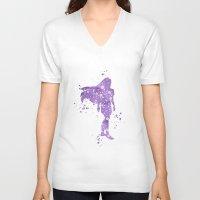 pocahontas V-neck T-shirts featuring Pocahontas Disneys by Carma Zoe