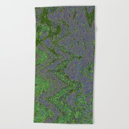 GORIAN MOSS GROWING ON FALIS THREE ON A CLOUDY DAY Beach Towel