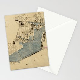 Vintage Map of The Charles River (1894) Stationery Cards