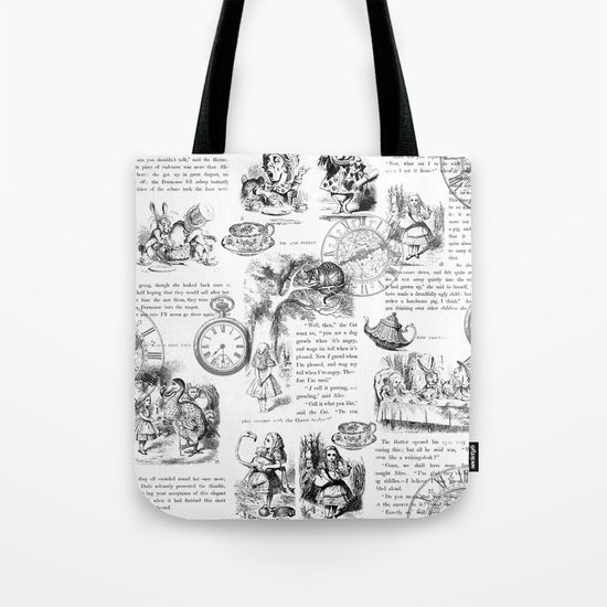 Alice in Wonderland - Pages Tote Bag
