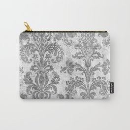 White Tapestry Carry-All Pouch