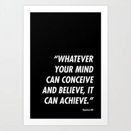 Conceive-Believe-Achieve Art Print
