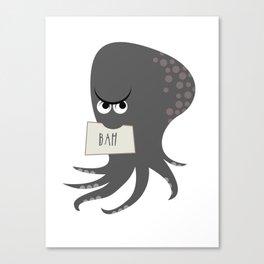 Squid of Contempt Canvas Print