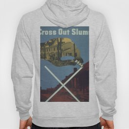 Vintage poster - Cross Out Slums Hoody