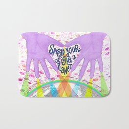 Spread Your Light to the Planet Bath Mat