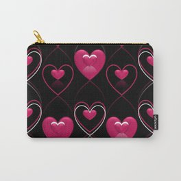 Ornament of Hearts Carry-All Pouch