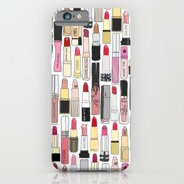 Lipsticks Makeup Collection Illustration iPhone Case