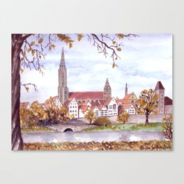Ulm Cathedral Canvas Print