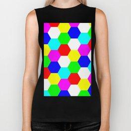 Hexagon Tesselation of Colors Biker Tank