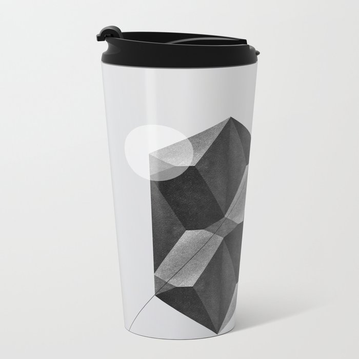 Space two Metal Travel Mug