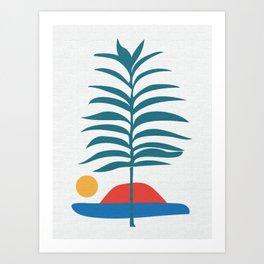 Tropical Abstract 1 Art Print