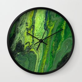 Green Oasis Wall Clock