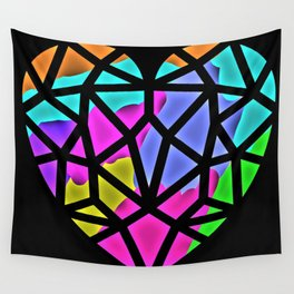 The Color of the Heart Wall Tapestry