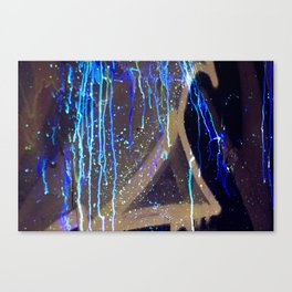 Graffiti & Glow Paint Canvas Print