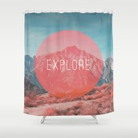 explore Shower Curtains featuring Explore by Zeke Tucker