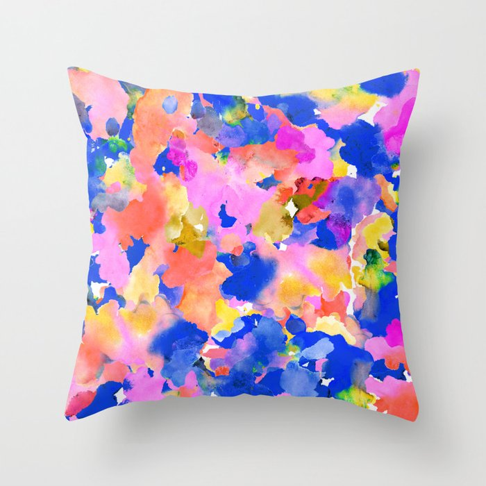 Floral splash Throw Pillow