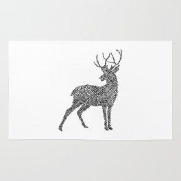 Deer in Mountain Lines Rug