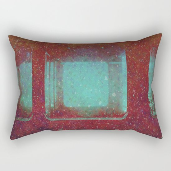 Into the City, Structure Windows Grunge Rectangular Pillow