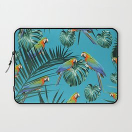 Parrots in the Tropical Jungle #2 #tropical #decor #art #society6 Laptop Sleeve