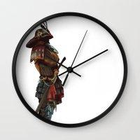 samurai Wall Clocks featuring Samurai by Alba Palacio