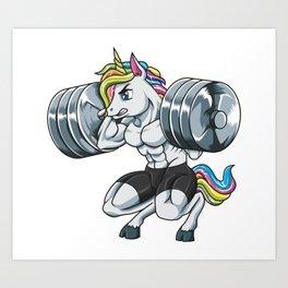Lift Like A Unicorn   Fitness Weightlifting Muscle Art Print