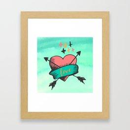 Love Heart Art Framed Art Print