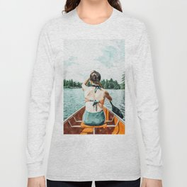Row Your Own Boat #illustration #decor #painting Long Sleeve T-shirt