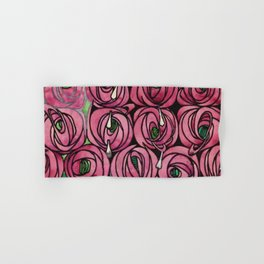 "Charles Rennie Mackintosh ""Roses and teardrops"" Hand & Bath Towel"