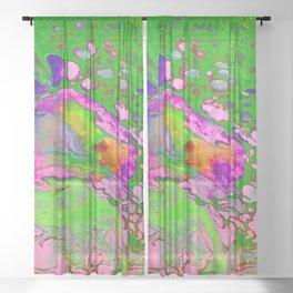 Green Acid Sheer Curtain