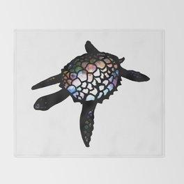 Space Turtle Throw Blanket