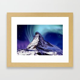 Stars over the Mountain Peak Framed Art Print