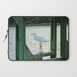 Egret Keeping Watch Laptop Sleeve