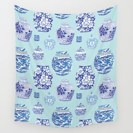 Chinoiserie Ginger Jar Collection No.3 Wall Tapestry