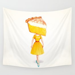 Cake Head Pin-Up - Lemon Wall Tapestry