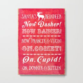 Reindeer names Metal Print