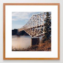 The Bridge of the Gods Sunset Framed Art Print