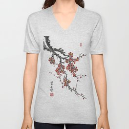 Cherry Blossom Two Unisex V-Neck