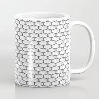 hexagon Mugs featuring Design Hexagon by ArtSchool