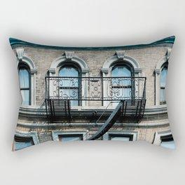 Facades of NY - 01  Rectangular Pillow