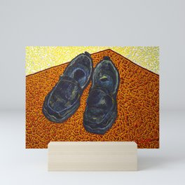 Still Life with Black Work Shoes Mini Art Print